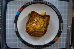 Worlds greatest sandwich finished (michaeljh89) Tags: food cooking kitchen breakfast fry egg sandwich eggs brunch