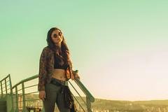 """Lu (""""Less is more"""".) Tags: portrait sky woman sun love colors smile face happy 50mm lights glasses model retrato sony happiness modelo cielo hippie sonrisa janis inlove joplin janisjoplin mymodel sonyalpha minolta50mm soplin sonystas sonyalpha58 sonystaschile"""