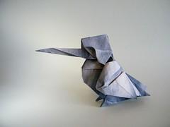 Kingfisher (Martin-pcheur) - Gen Hagiwara (Rui.Roda) Tags: bird origami martin pssaro kingfisher pajaro gen papiroflexia oiseau pescador hagiwara martinpcheur papierfalten