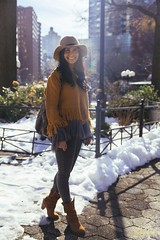 View from Downtown (caiteesmith photography.) Tags: nyc winter portrait snow eastvillage ny hat fashion brooklyn canon season lens outfit village mark manhattan edited iii seasonal style blogger velvia flare 5d velvia100 fashionista unionsquare tamron sunspot stylish lightroom 2470mm lookslikefilm 5dmkiii viewfromdowntown 5dmk3 5dmarkiii 5dmark3