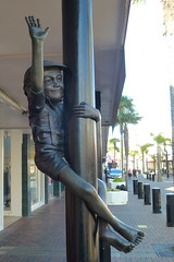 Boy On A Pole (gec21) Tags: newzealand sculpture panasonic nz napier hawkesbay 2015 dmctz20