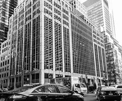 Park Avenue, New York (Sharon Mollerus) Tags: windows newyork cars reflections grid blackwhite unitedstates fc