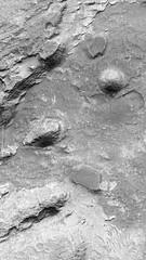 Layered Bedrock (sjrankin) Tags: mars edited large nasa grayscale bedrock layered marsreconnaissanceorbiter 1322mb 27january2016 esp0126201540