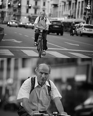 [La Mia Città][Pedala] (Urca) Tags: portrait blackandwhite bw bike bicycle italia milano bn ciclista biancoenero mirò bicicletta 2015 pedalare dittico nikondigitale ritrattostradale 792143