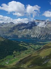 opposite Fex (Riex) Tags: lake mountains alps green alpes landscape schweiz switzerland suisse scenic lac lookout greenery svizzera paysage verdure a100 pointdevue engadine montagnes amount sils graubnden grisons graubunden valfex sal1680z verdatre minoltaamount carlzeisssonyf35451680mm variosonnartdt35451680