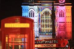 Westminster Abbey - Lumiere London (Suse Wilson) Tags: light london westminsterabbey festival architecture night lumiere redphonebox patricewarrener redbus visitlondon timeoutlondon lumiereldn thelightofspirit