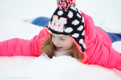 Wrong Way Snow Angel :) (Shannon Tompkins) Tags: winter white snow girl hat canon outside kentucky ky daughter 100mm louisville 6d
