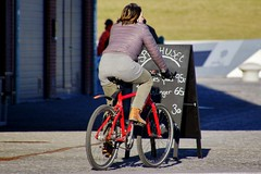 I want to ride my bicycle (os♥to) Tags: sony alpha77 a77 slt february2016 elsinore bicycle bike bici vélo rower bicicleta fietssykkel cykel velo fahrrad street streetphotography candid people