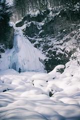 (jasohill) Tags: life winter snow color nature water japan forest snowshoe photography frozen big amazing hike waterfalls iwate nana matsuo taki hachimantai