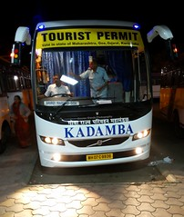Brand new kadamba Facelifted Volvo B7R spotted at Swarget bus stand (gouravshinde94) Tags: bus volvo pune shirdi sangli kadamba b7r msrtc