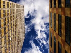 sky (Darek Drapala) Tags: city blue light sky urban color building architecture clouds buildings lumix poland polska panasonic warsaw warszawa skyskape panasonicg5