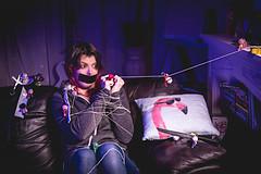 Day 31 (BurningGiraffe) Tags: portrait self toy photo doll dolls day purple surrealism surreal sofa tied gels voodoo
