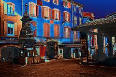 Anduze_0484 (hervv30140) Tags: france languedoc gard anduze cévennes village maison fontaine halle place art artwork création surréalisme hiver