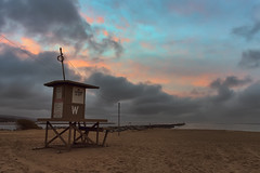 The Wedge Lifeguard Tower At Sunrise (Eddie Yerkish) Tags: ocean california county sky orange sun seascape tower beach nature water clouds sunrise landscape outdoors sand nikon rocks waves horizon lifeguard newport balboa peninsula wedge d7200