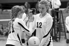 IMG_8562 (SJH Foto) Tags: girls blackandwhite bw white black club team sub teenagers teens rotation volleyball substitution tweens u14s monocolour