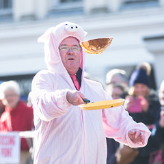 Newbury Pancake Day Race 2016 (Annual charity event organised by Soroptomists International) (lucie.robinson) Tags: charity event marketplace february berkshire newbury shrovetuesday 2016 westberkshire newburypancakedayrace