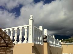 La Palma (eatmymoto) Tags: sky cloud holiday sunshine corner island spain europa europe terrace balcony urlaub terrasse himmel wolken insel roofdeck lapalma canaries canaryislands vacaciones ecke balustrade espagna vulkan ballustrade roofterrace kanarischeinseln tazacorte iphone4