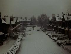 Winter View 1 pemberton Dr. Bradford 1968 (Glenmore1971) Tags: street snow bradford yorkshire streetscene winterscene