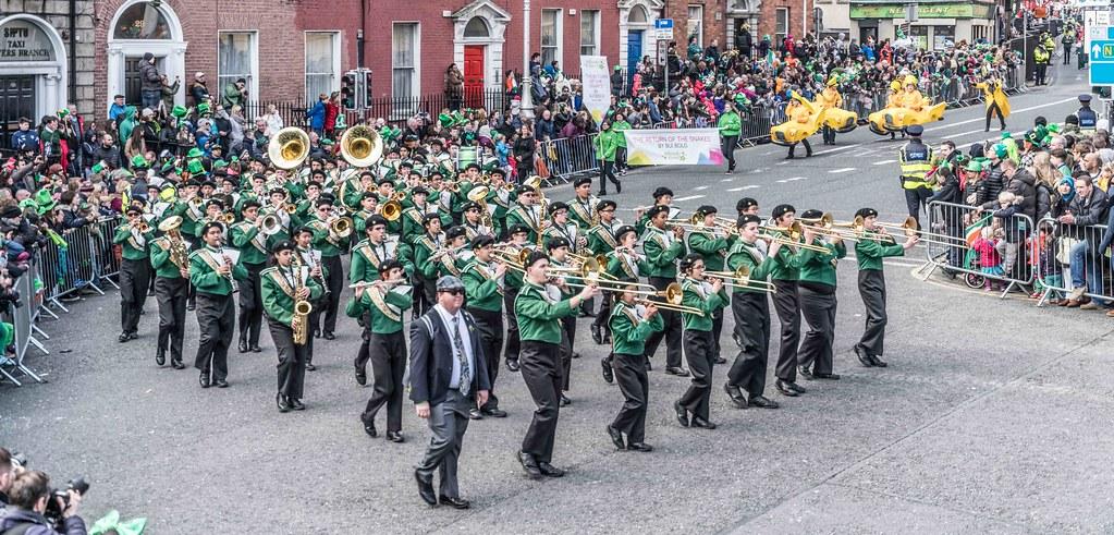 John F. Kennedy High School (Shamrock Regiment), California [St. Patrick's Parade 2016]-112648