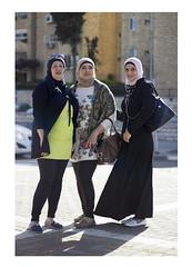 Three Graces (Gabriela Gleizer) Tags: street city friends people woman french religious israel three women muslim jerusalem hill snapshot arab graces