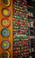 Colors in Cordoba (Colormaniac too (trying to catch up)) Tags: travel color colour colors shopping spain colorful colours display market textures cordoba pottery plates colourful cheerful andalusia flypaper