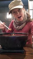 How big is my soup? (eweliyi) Tags: woman funnyface me mushroom girl face hat japan self soup bigeyes big surprise chopstick ja kawaguchiko hoto project365 surpriseface eweliyi 365v4 hotofudo