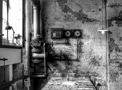 The Old Canteen (xhupf) Tags: blackandwhite bw architecture liverpool pen factory cybershot canteen hdr the rx100m3
