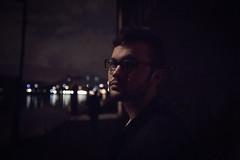 Noisy 2 (ax.stoll) Tags: city boy urban night river dark lights glasses frankfurt exploring side main brigde urbex