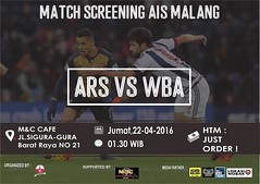 Lokasi Nobar: Meskipun kemarin imbang fans Arsenal ga boleh loyo dong. Terutama yang berdomisili Malang. Yuk merapat! (lokasinobar) Tags: barcelona madrid city milan roma liverpool indonesia manchester real bayern la football chelsea soccer united bola arsenal serie juventus tottenham inter bareng psg liga epl suporter persija lokasi nonton persib a sepakbola nobar arema kuliner nonbar
