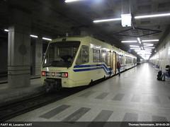 FART 45 im Bahnhof Locarno FART (Lanchid) Tags: subway schweiz switzerland tessin ticino suisse eisenbahn 45 fart ubahn locarno svizzera ferrovie centovalli diretto muralto vigezzina ssif centovalliexpress