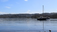 Boat on the Lake (rreyn92) Tags: blue sky lake reflection nature water relax outside outdoors boat natural district shoreline relaxing calming calm lakeside environment windermere