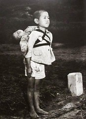 A Japanese boy standing at attention after having brought his dead younger brother to a cremation pyre (1945) [1000  1378] #HistoryPorn #history #retro http://ift.tt/1VDYYIG (Histolines) Tags: boy history standing dead japanese brother retro his timeline brought after attention having 1945 1000 pyre younger cremation  vinatage 1378 a historyporn histolines httpifttt1vdyyig