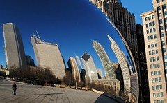 Cloud Gate (Cragin Spring) Tags: city urban usa chicago reflection building skyline skyscraper mirror illinois midwest downtown unitedstates unitedstatesofamerica chitown bean il cloudgate chicagoillinois chicagoil windycity