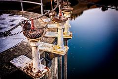 Spillway Valves (stefanws) Tags: california lake water rust peeling paint marin reservoir bayarea marincounty valves mechanism nikond80
