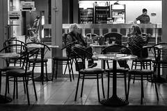 Isn't it late for coffee? (Originalni Digitalni) Tags: blackandwhite bus art coffee monochrome canon photography evening women raw sitting bokeh walk cigarette smoking dslr talking lightroom etnja streeet veer fotografija umjetnost 60d slavonskibrod originalnidigitalni tomislavlai