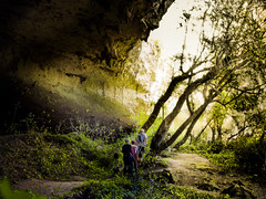Our secret place (Kevin STRAGLIATI) Tags: light vacation sunlight france tree green nature grass trek landscape amazing natural hiking path secret south magic huge cave ardeche grotte