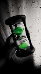 Time is what we want most, but what we use worst... (Boris Kuschter) Tags: time indoor hourglass blackandwhitebackground