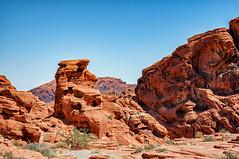 Mojave_290909_0854 (Steve Bark) Tags: las vegas cliff usa mountain nature america landscape fire nikon rocks desert nevada hill north valley mojave dx d90