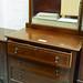 Mahogany inlaid 3 drawer dresser