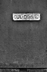 "A road to nowhere ! (CJS*64 ""Man with a camera"") Tags: street blackandwhite bw monochrome sign manchester mono blackwhite nikon name nikkor dslr deadend culdesac cjs whiteandblack nogo whiteblack nikkorlens 50mmf18lens swinton 50mmlens 50mmnikkorlens d7000 nikond7000 craigsunter cjs64"