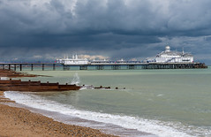 Eastbourne Pier | East Sussex | United Kingdom (Jamie Dean) Tags: sea sky beach water architecture clouds landscape coast pier waves stormy eastbourne groynes weaterfront