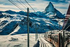 Gornergratbahn (iSteven-ch) Tags: travel mountain snow canon switzerland railway gornergrat zermatt matterhorn zahnrad ch valais swissalps rackrailway gornergratbahn eos6d stadlerrail bhe46 thematterhornrailway