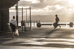 early in the morning (glasnevinz) Tags: newzealand waterfront wellington walkers