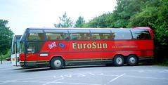 Eurosun WJI5242 Felixstowe July 2001 (The original SimonB) Tags: 2001 film buses transport july scanned