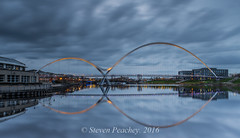Mirror Image (Steven Peachey) Tags: uk bridge england water canon reflections river landscape cityscape dusk stockton stocktonontees northeastengland rivertees ef1740mmf4l lee09gnd leefilters canon6d lightroom5 stevenpeachey