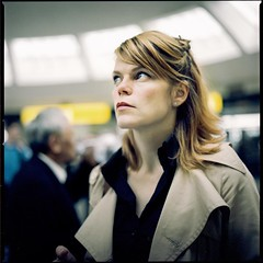 Next Flight (bareform) Tags: portrait 120 film analog mediumformat 50mm airport hasselblad carlzeisst ektar100