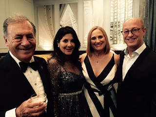 Collectors Jeff and Yolanda Berkowitz with Julia and Shelly Berg, UM dean of music at the Arsht center's 10 year anniversary gala cocktail.