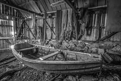 Old boat in a old boathouse (Reidar Trekkvold) Tags: old norway boat boathouse harstad troms