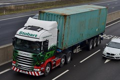 Stobart H2386 PO15 UZA Tracy Leanne A1 Washington Services 10/3/16 (CraigPatrick24) Tags: road truck washington cab transport container lorry delivery vehicle a1 trailer scania logistics stobart eddiestobart skeletaltrailer stobartgroup scaniar450 washingtonservices h2386 po15uza tracyleanne