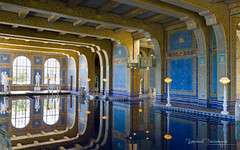 Roman Pool (Raph/D) Tags: ocean voyage california ca trip travel blue usa house west reflection castle water colors pool statue america swimming canon tile eos gold one 1 golden coast us highway san state pacific roman united indoor landmark calif cal american 7d l series states hearst catchy tone simeon lightroom lseries canoneos7d